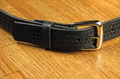 #228789. 64 . BLACK Retail $  35.00 Belts by MARK WOLF. BASKET WEAVE 1-1/4 Whs:  3,