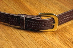 #213976. 58 . BROWN Retail $  35.00 Belts by MARK WOLF. BASKET WEAVE 1-1/4 Whs A:  1
