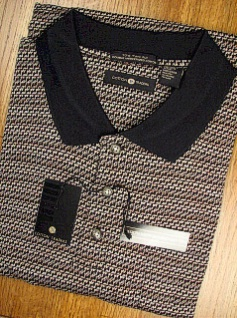 #244639. L TALL. BLACK Retail $  59.00 Short Sleeve Pocket by CTTON TRADERS. 70S 2-PLY MERCERIZED Whs A:  1 FW:  1