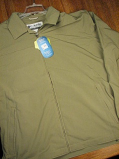 #001298. 2XL TALL. FLAX Retail $  90.00 Outerwear by COLUMBIA SPORTSWEAR. TABOR JACKET Whs:  1,