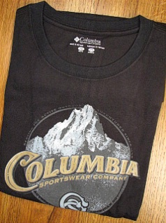#173779. XL BIG. BLACK Retail $  30.00 Short Slv Graphic Tee by COLUMBIA SPORTSWEAR. MOUNTAIN TIME TEE Whs A:  1