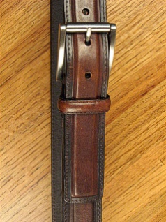 #101583. 56 . BROWN Retail $  44.00 Belts by OUTFITTER. 1 1/2 DRESS SATIN BKL Whs:  1,