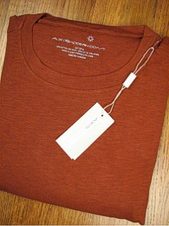 #173384. 2XL BIG. RUST Retail $  95.00 Long Sleeve by AXIS. DOCK SOLID Whs A:  1