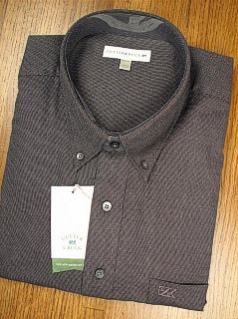 #248116. 4XL BIG. BLACK Retail $  79.50 Long Sleeve Cotton by CUTTER BUCK. NAILHEAD SOLID Whs A:  1