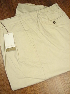 #350231. 48 REG. BONE Retail $  86.00 Cotton Casual Pants by CUTTER BUCK. SIDE-ELASTIC PLEAT WF Whs A:  1 FW:  1   <br><b>This item requires hemming.