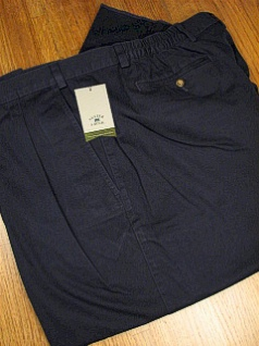 #011183. 48 REG. NAVY Retail $  86.00 Cotton Casual Pants by CUTTER BUCK. SIDE-ELASTIC PLEAT WF FW:  1   <br><b>This item requires hemming.