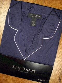 #314291. 3XL TALL. NAVY Retail $  36.00 Pajamas by STATE-O-MAINE. NYLON PAJAMA Whs A:  7