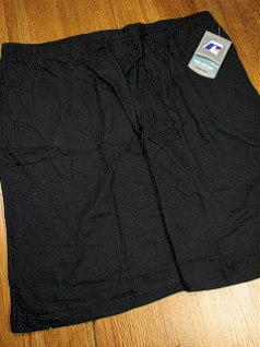 #236386. 4XL BIG. BLACK Retail $  23.00 Fleece Shorts by RUSSELL. JERSEY SHORT Whs A: 10 FBA:  7