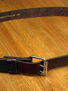 #184926. 60 . BROWN Retail $  35.00 Belts by MARK WOLF. DOUBLE PRONG HOLES Whs A:  1