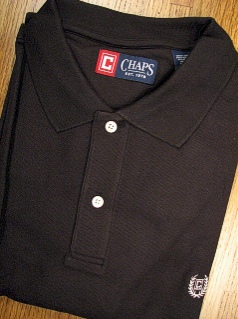 #207009. 4XL BIG. BLACK Retail $  48.00 Short Sleeve by CHAPS. SOLID PIQUE POLO FW:  1,