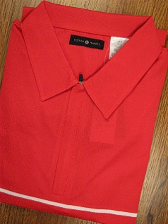 #273648. XL TALL. RED Retail $  44.00 Short Sleeve Stay Dry by CTTON TRADERS. TECH KNIT WITH ZIPPER FW:  1,