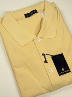 #066349. 4XL TALL. BUTTER Retail $  34.00 Short Sleeve Pocket by CTTON TRADERS. SOLID POCKET PIQUE Whs A:  1