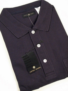 #066279. 3XL TALL. NAVY Retail $  34.00 Short Sleeve Pocket by CTTON TRADERS. SOLID POCKET PIQUE Whs A:  1 FW:  1