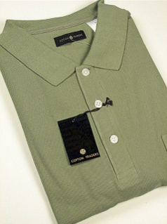 #329815. 2XL TALL. SAGE Retail $  34.00 Short Sleeve Pocket by CTTON TRADERS. SOLID POCKET PIQUE Whs A:  4 FW:  1