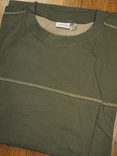 #338301. 4XL BIG. GREEN Retail $  34.00 Long Sleeve by WHITE MOUNTAIN. SUEDED PCD CREW Whs A:  4