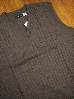 #145525. 3XL TALL. CHARCOAL Retail $  36.00 Sweaters by CTTON TRADERS. PULLOVER V-NECK VEST Whs A:  1