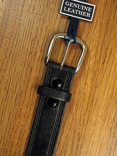 #012502. 50 . BLACK Retail $  34.00 Belts by MARK WOLF. TRIPLE-STITCH EDGE Whs A:  2