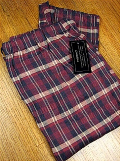 #286453. XL TALL. WINE Retail $  25.00 Flannel Loungepants by STATE-O-MAINE. FLANNEL PANT Whs A:  4