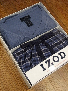 #112039. XL BIG. BLUE Retail $  45.00 Loungepant Sets by IZOD. WAFFLE HENLEY/PANT Whs A:  2 FW:  2