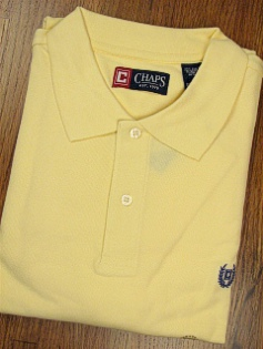 #280844. XL TALL. YELLOW Retail $  43.50 Short Sleeve by CHAPS. SOLID PIQUE POLO FW:  1,