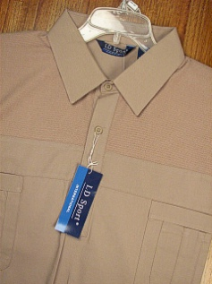 #181417. 4XL BIG. TAUPE Retail $  44.00 Short Sleeve by LD SPORT. FRENCH KNIT 2-POCKET Whs A:  2