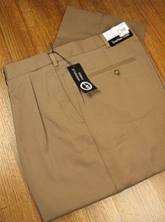 #144492. 60 REG. CAMEL Retail $  69.00 Dress Pants by JONATHAN QUALE. EXPANDER GAB PLEAT FW:  1   <br><b>This item requires hemming.