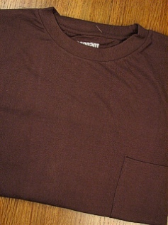 #124931. 2XL BIG. CHOCOLAT Retail $  18.00 Short Sleeve Tee by PENNANT SPORT. PREMIUM POCKET TEE Whs A:  3 FW:  1