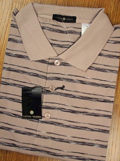#336437. 2XL BIG. TAUPE Retail $  44.00 Short Sleeve Stay Dry by CTTON TRADERS. TECH SPACE DYE PIQUE Whs:  2,
