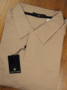 #082925. 2XL TALL. TAUPE Retail $  44.00 Short Sleeve Stay Dry by CTTON TRADERS. TECH PIECED RAGLAN Whs A:  1