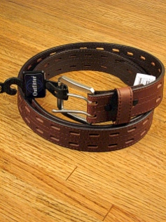 #029702. 46 . BROWN Retail $  33.00 Belts by OUTFITTER. 38MM BRIDLE DBL PRONG FW:  1,