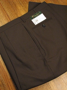 #195001. 52 REG. OLIVE Retail $  69.00 Dress Pants by PALM BEACH TROUSER. PLEATED WORLD CLASS FW:  1   <br><b>This item requires hemming.