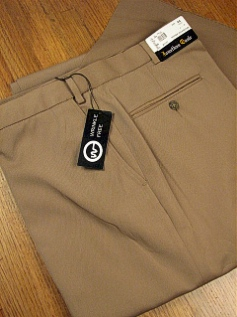 #081506. 58 REG. CAMEL Retail $  69.00 Dress Pants by JONATHAN QUALE. EXPANDER GAB PLAIN FW:  1   <br><b>This item requires hemming.