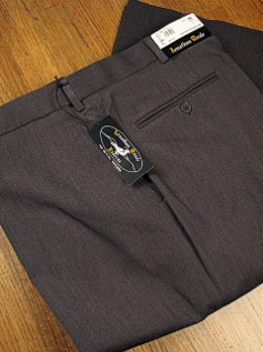 #152288. 58 REG. GRAY Retail $  69.00 Dress Pants by JONATHAN QUALE. EXPANDER GAB PLAIN FW:  1   <br><b>This item requires hemming.