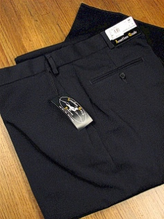 #315506. 58 REG. NAVY Retail $  69.00 Dress Pants by JONATHAN QUALE. EXPANDER GAB PLAIN Whs A:  1 FW:  1   <br><b>This item requires hemming.