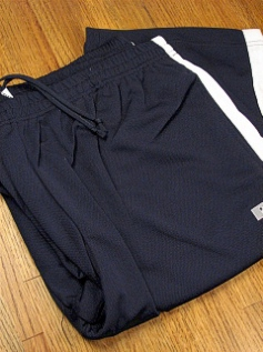 #145422. 2XL BIG. NAVY/WHT Retail $  38.00 Dri-Power Pants by RUSSELL. DRI-POWER PANT STRIPE Whs A: 21