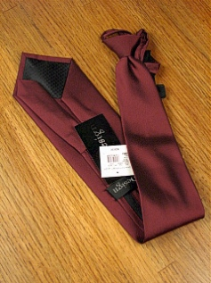#236128.  . BURGUNDY Retail $  28.50 Extra Long Ties by FX DESIGN. SOLID XLONG ZIP FW:  2,