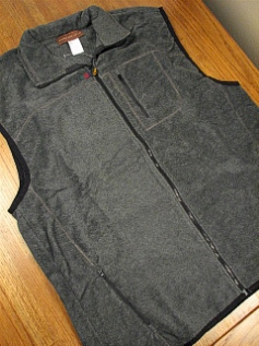 #085012. 2XL TALL. CHARCOAL Retail $  42.00 Outerwear by WOOD LAND TRAIL. POLAR FLEECE ZIP VEST Whs:  5,FW:  1,