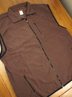 #245212. 2XL BIG. MOCHA Retail $  42.00 Outerwear by WOOD LAND TRAIL. POLAR FLEECE ZIP VEST Whs:  1,