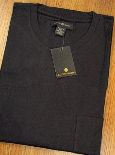 #207470. 2XL TALL. BLACK Retail $  25.00 Long Sleeve Tee by CTTON TRADERS. POCKET TEE LONGSLV Whs A:  6