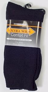 #038670.  . BLACK Retail $   9.00 Regular Sized Socks by EXTRA WIDE SOCK. REG XTRA WIDE Whs A: 30