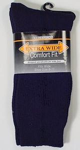 #101538.  . NAVY Retail $   9.00 Regular Sized Socks by EXTRA WIDE SOCK. REG XTRA WIDE Whs A: 10 FW:  1