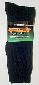 #200783.  . BLACK Retail $   9.99 King Sized Socks by EXTRA WIDE SOCK. KING SIZE X-WIDE Whs A:  1 FW:  1