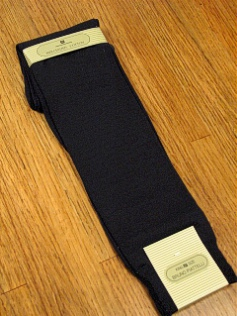 #139517.  . NAVY Retail $  15.00 King Sized Socks by BRUNO PIATTELLI. KING OVER THE CALF Whs A: 15 FW:  1