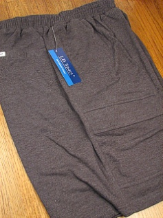 #319973. 5XL BIG. CHARCOAL Retail $  48.00 Fleece Shorts by LD SPORT. FR TERRY CARGO SHORT FW:  1,