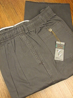 #348061. 44 . SAGE Retail $  55.00 Cotton Casual Pants by CREEKWOOD. ELASTIC TWILL IRR Whs A:  9 FW:  1