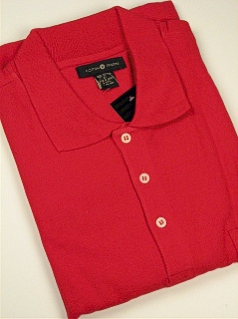 #044068. L TALL. RED Retail $  34.00 Short Sleeve Pocket by CTTON TRADERS. SOLID POCKET PIQUE Whs:  2,