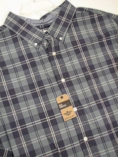 #184438. 4XL BIG. TEAL Retail $  65.00 Long Sleeve Cotton by DOCKERS. AMERICANA PLAID Whs A:  1 FW:  1