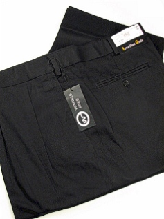 #076199. 44 28. BLACK Retail $  69.00 Cotton Casual Pants by JONATHAN QUALE. PLEAT XPAND WRNKLFREE Whs A:  1