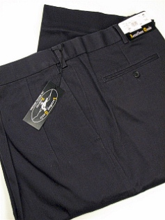 #264509. 42 36. NAVY Retail $  69.00 Cotton Casual Pants by JONATHAN QUALE. PLEAT XPAND WRNKLFREE Whs A:  1