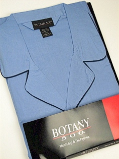 #066901. 3XL BIG. BLUE Retail $  34.00 Pajamas by BOTANY 500. LONG SLV PANT SOLID Whs A:  3 FW:  2